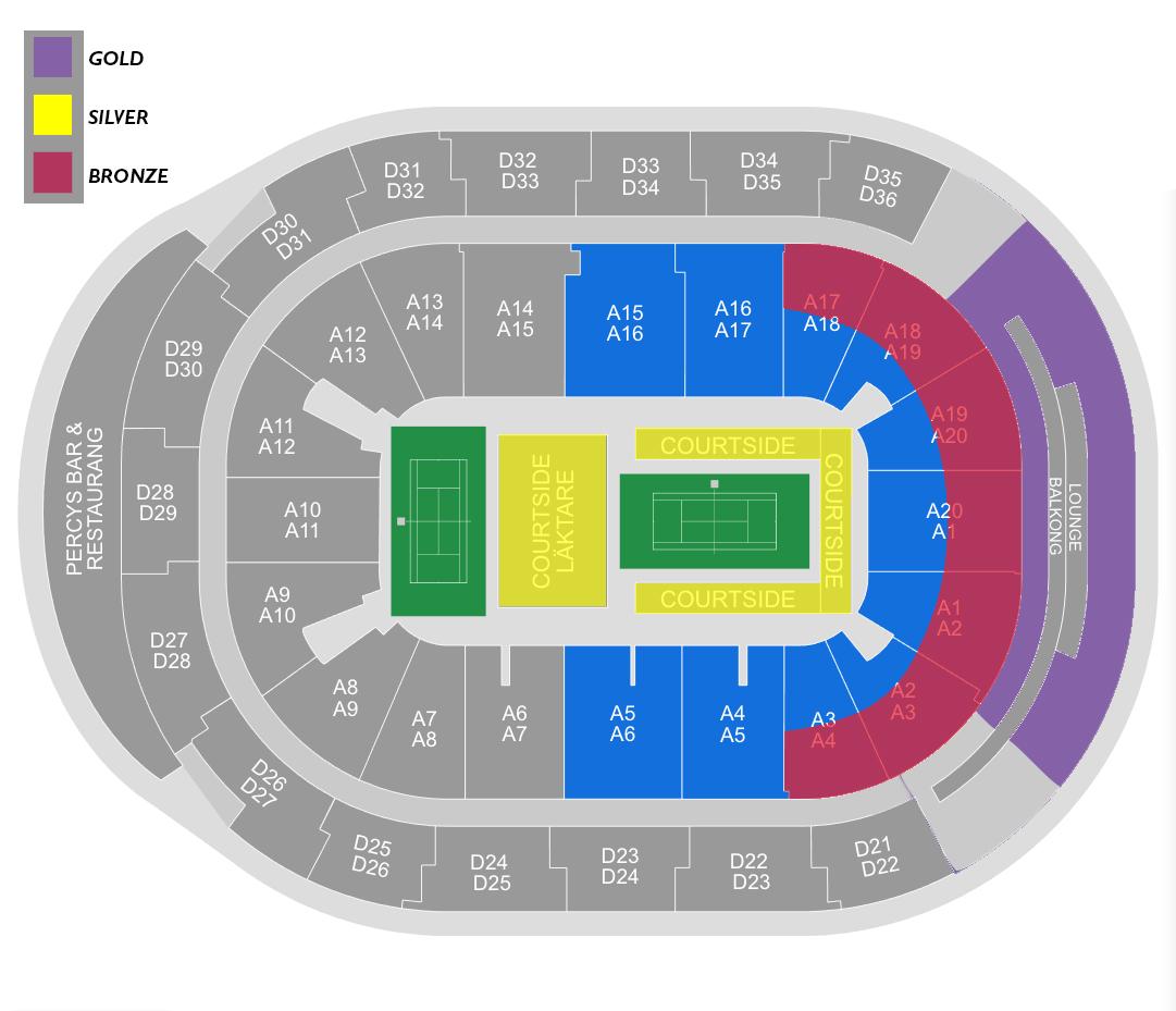 WPT Malmö Arena seating